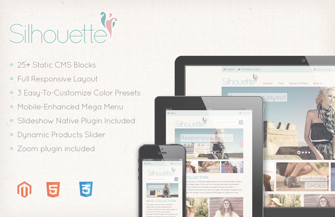 Silhouette Magento Template
